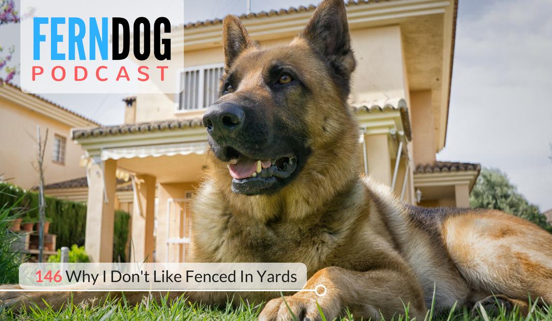 FernDog146: Why I Don't Like Fenced In Yards